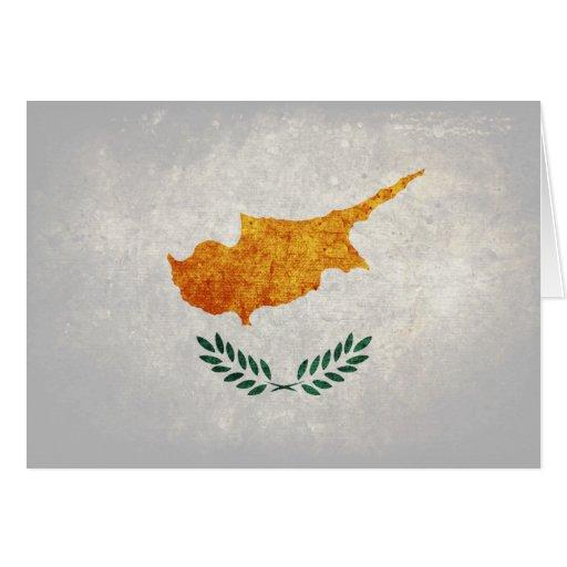 Flagge von Zypern Grußkarte