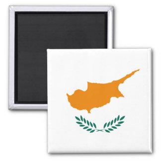 Flagge von Zypern-Magneten Quadratischer Magnet