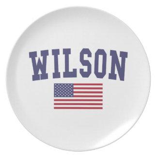 Flagge Wilsons US Flacher Teller
