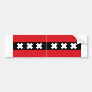 Flagge ZWEI von Amsterdam Autoaufkleber