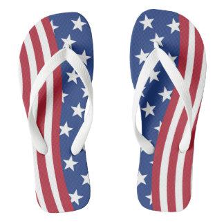 Flaggedruck auf erwachsenen breiten Bügeln Flip Flops