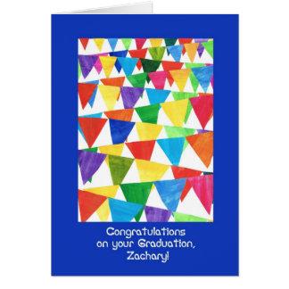 Flaggen-Abschluss-Glückwünsche für Zachary Karte