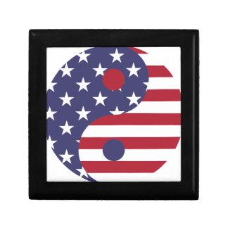 Flaggen-abstrakte Kunst-Asiats-Balance Yang Yin Geschenkbox
