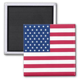 Flaggen-am 4. Juli Quadrat-Kühlschrankmagnet USA Quadratischer Magnet