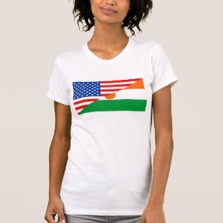 Flaggen-Amerika-Symbol Landes USA Niger halbes T-Shirt