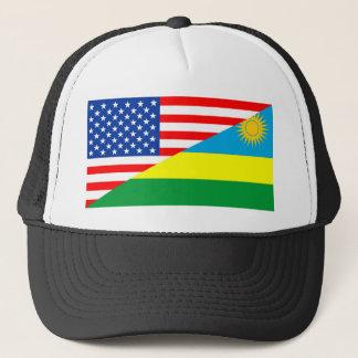 Flaggen-Amerika-Symbol Landes USA Ruanda halbes Truckerkappe
