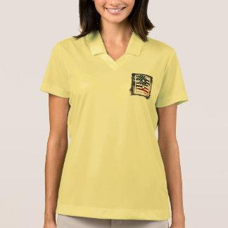 Flaggen-amerikanische Initiale des Monogramm-B USA Polo Shirt