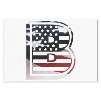 Flaggen-amerikanische Initiale des Monogramm-B USA Seidenpapier
