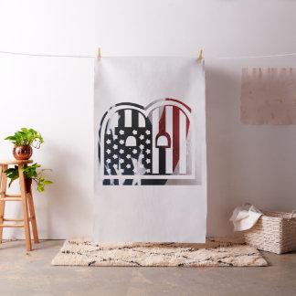 Flaggen-amerikanische Initiale des Monogramm-B USA Stoff