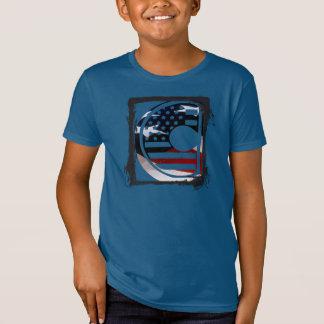 Flaggen-amerikanische Initiale des Monogramm-C USA T-Shirt