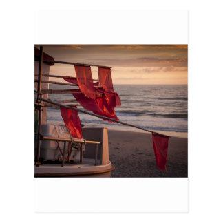 Flaggen auf einem Boot Postkarten