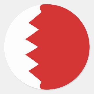 Flaggen-Aufkleber Bahrains Fisheye Runder Aufkleber