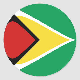 Flaggen-Aufkleber Guyanas Fisheye Runder Aufkleber
