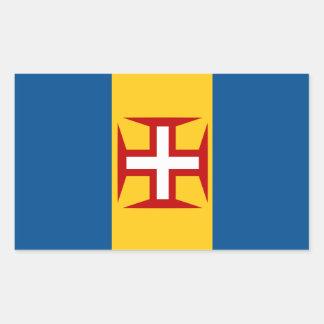 Flaggen-Aufkleber Madeiras Portugal Rechteckiger Aufkleber