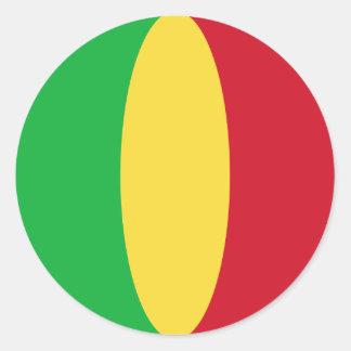 Flaggen-Aufkleber Malis Fisheye Runder Aufkleber