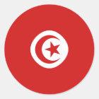 Flaggen-Aufkleber Tunesiens Fisheye Runder Aufkleber