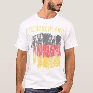 Flaggen-Damen-Crew Deutschland deutsche T-Shirt
