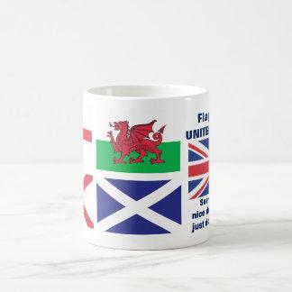Flaggen der Königreich-Tasse… trauriges Wales! Kaffeetasse