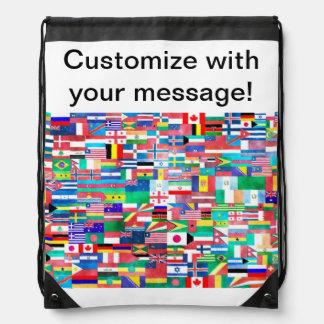 Flaggen der Nations-Collage Sportbeutel