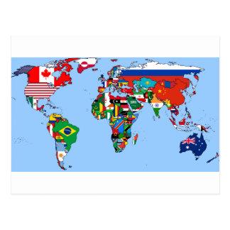 Flaggen der Welt 2014 Postkarte