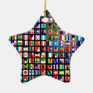 Flaggen der Welt Keramik Ornament