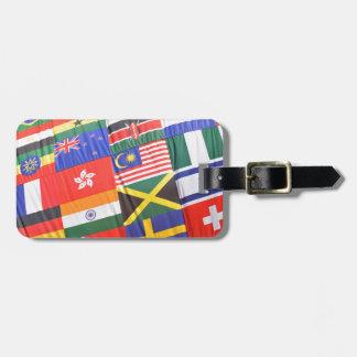 Flaggen der Welt Kofferanhänger