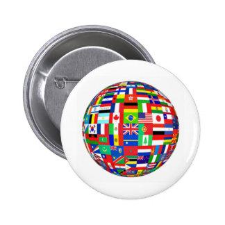Flaggen der Welt Runder Button 5,7 Cm