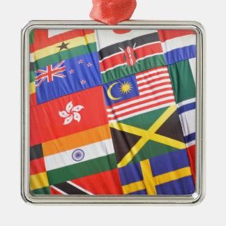 Flaggen der Welt Silbernes Ornament