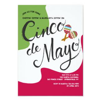 Flaggen-Einladung Cinco Des Mayo Karte