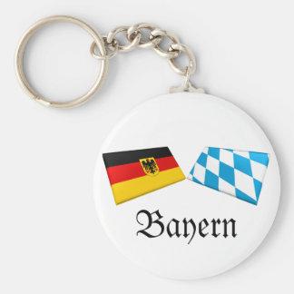 Flaggen-Fliesen Bayern, Deutschland Schlüsselanhänger