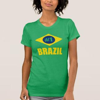 Flaggen-gelber Text Brasiliens #1 T-Shirt