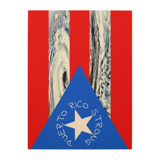 Flaggen-Hurrikan-Maria-Holz-Kunst Puertos Rico Holzwanddeko