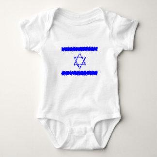 Flaggen-Israel-Blau-Land Baby Strampler