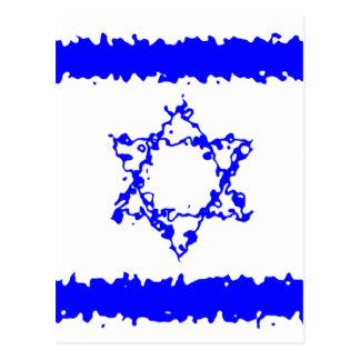 Flaggen-Israel-Blau-Land Postkarte