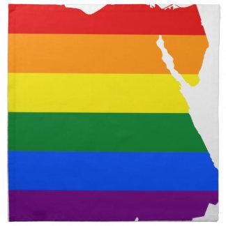 Flaggen-Karte Ägyptens LGBT Stoffserviette