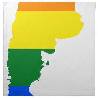 Flaggen-Karte Argentiniens LGBT Stoffserviette