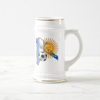 Flaggen-Karte Argentiniens Sun von Bierglas
