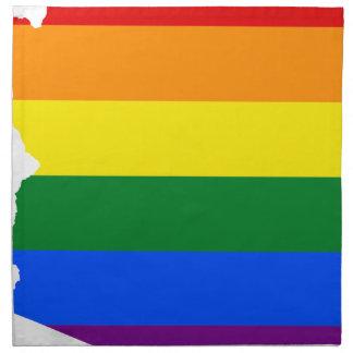 Flaggen-Karte Arizonas LGBT Serviette