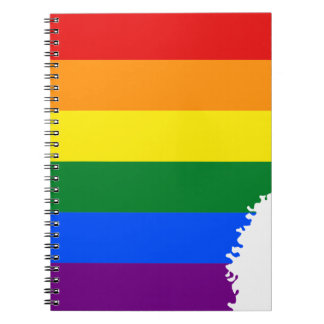 Flaggen-Karte Arkansas LGBT Spiral Notizblock