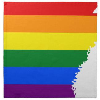 Flaggen-Karte Arkansas LGBT Stoffserviette
