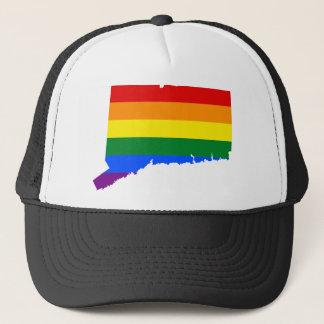 Flaggen-Karte Connecticuts LGBT Truckerkappe