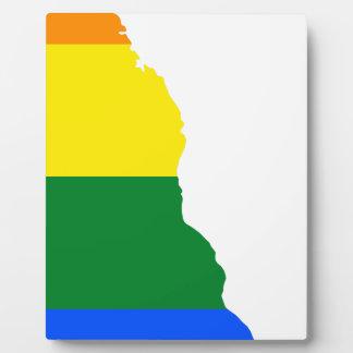 Flaggen-Karte Delawares LGBT Fotoplatte