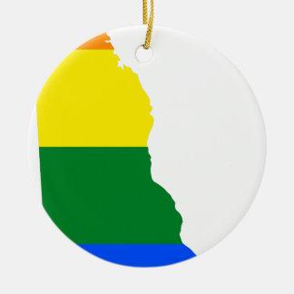 Flaggen-Karte Delawares LGBT Keramik Ornament