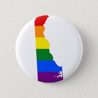Flaggen-Karte Delawares LGBT Runder Button 5,1 Cm