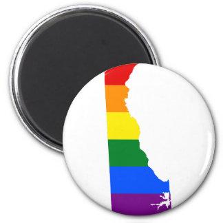 Flaggen-Karte Delawares LGBT Runder Magnet 5,7 Cm