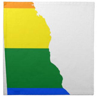 Flaggen-Karte Delawares LGBT Stoffserviette