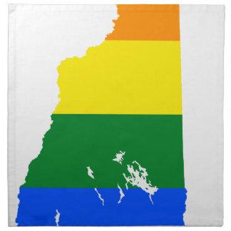 Flaggen-Karte des New Hampshire-LGBT Stoffserviette