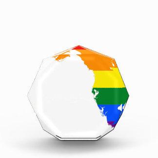 Flaggen-Karte Floridas LGBT Acryl Auszeichnung