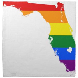 Flaggen-Karte Floridas LGBT Stoffserviette