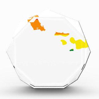 Flaggen-Karte Hawaiis LGBT Acryl Auszeichnung